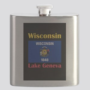 Lake Geneva Wisconsin Flask