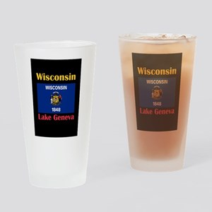 Lake Geneva Wisconsin Drinking Glass