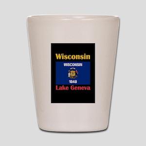 Lake Geneva Wisconsin Shot Glass