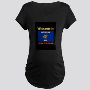Lake Geneva Wisconsin Maternity T-Shirt