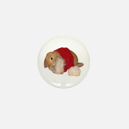 """Xmas Bunny 1"" Mini Button"