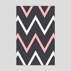 Pink Zigzag Mini Poster Print
