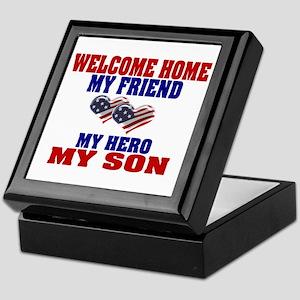 welcome home my son Keepsake Box