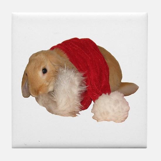 """""""Xmas Bunny 1"""" Tile Coaster"""