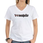 Woodpile Women's V-Neck T-Shirt
