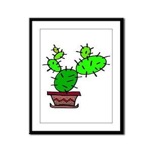 Cacti Framed Panel Print