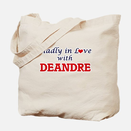 Madly in love with Deandre Tote Bag
