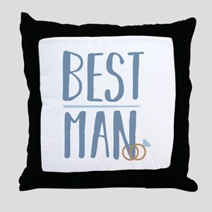 Best Man Throw Pillow