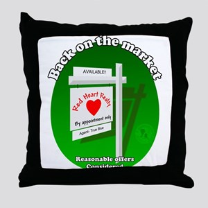 Back on the Market Throw Pillow