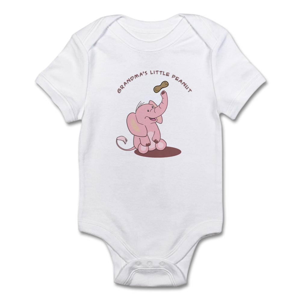 CafePress-Grandma-039-s-Little-Peanut-Infant-Bodysuit-Baby-Bodysuit-199363659 thumbnail 8