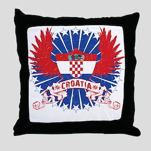 Croatia Winged Throw Pillow