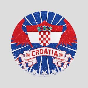 "Croatia Winged 3.5"" Button"