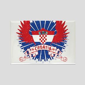 Croatia Winged Rectangle Magnet