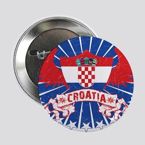 "Croatia Winged 2.25"" Button"