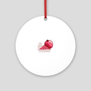 For Pomegranate Round Ornament