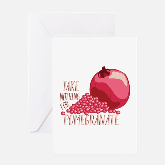 For Pomegranate Greeting Cards