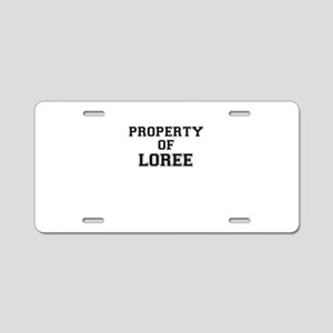 Property of LOREE Aluminum License Plate