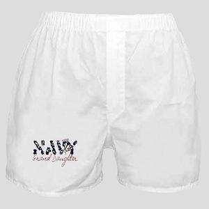 Navy Granddaughter Boxer Shorts