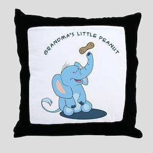 Grandma's little peanut Throw Pillow