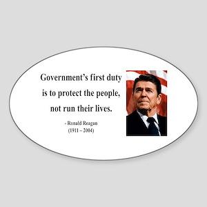 Ronald Reagan 2 Oval Sticker