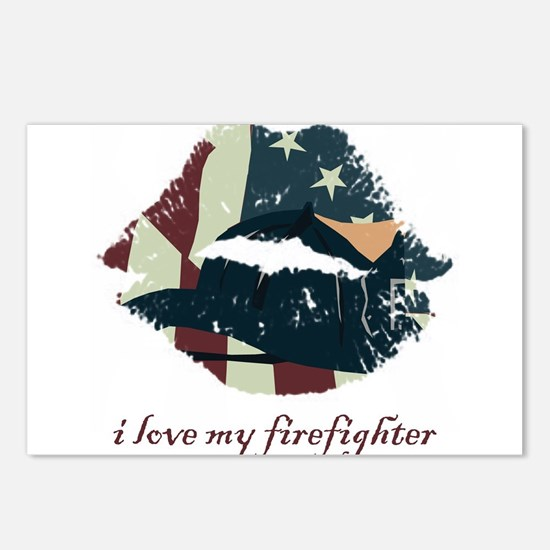 Firefighter Kiss Postcards (Package of 8)
