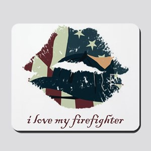 Firefighter Kiss Mousepad