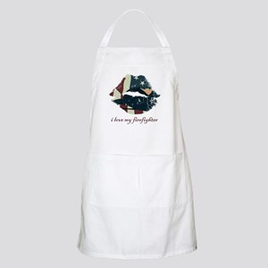 Firefighter Kiss BBQ Apron