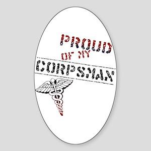 Corpsman Pride Oval Sticker