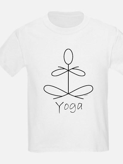 Yoga Glee in White T-Shirt