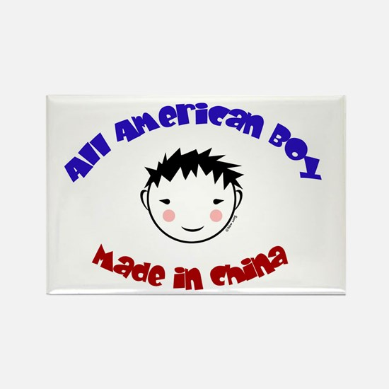 ALL AMERICAN BOY Rectangle Magnet