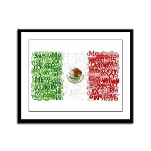 Textual Mexico Framed Panel Print