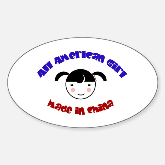 ALL AMERICAN GIRL Oval Decal