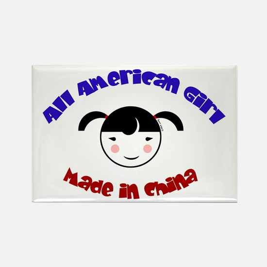 ALL AMERICAN GIRL Rectangle Magnet