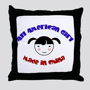 ALL AMERICAN GIRL Throw Pillow