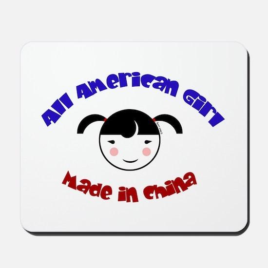 ALL AMERICAN GIRL Mousepad
