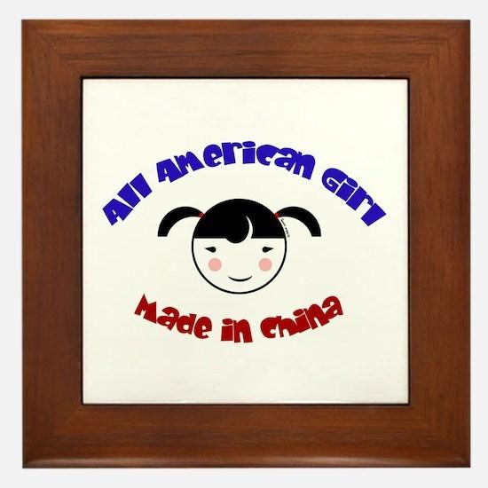 ALL AMERICAN GIRL Framed Tile