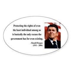Ronald Reagan 3 Oval Decal