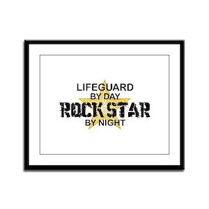 Lifeguard RockStar by Night Framed Panel Print
