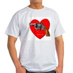 Love Gun Visual Shirt Ash Grey T-Shirt