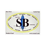 Santa Barbara Rectangle Magnet (10 pack)