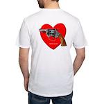 Ad-Free Love Gun Fitted T-Shirt