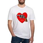 Love Gun Visual Shirt Fitted T-Shirt