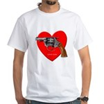 Ad-Free Love Gun White T-Shirt
