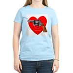 Love Gun Visual Shirt Women's Pink T-Shirt