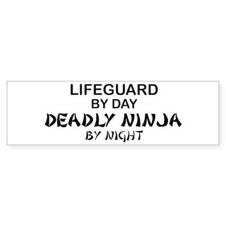 Lifeguard Deadly Ninja by Night Bumper Sticker
