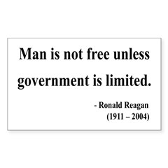 Ronald Reagan 4 Rectangle Decal