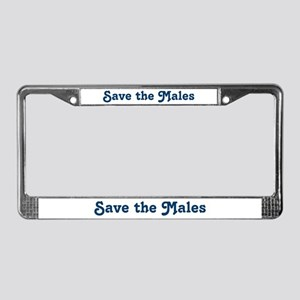 Save the Males License Plate Frame