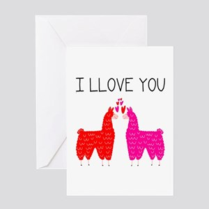 Llama Love Valentine's Day Greeting Cards