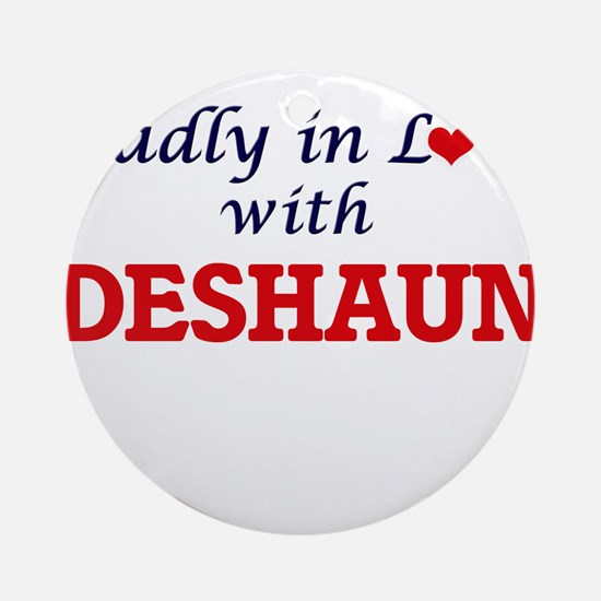 Madly in love with Deshaun Round Ornament