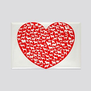 Love Dogs Rectangle Magnet
